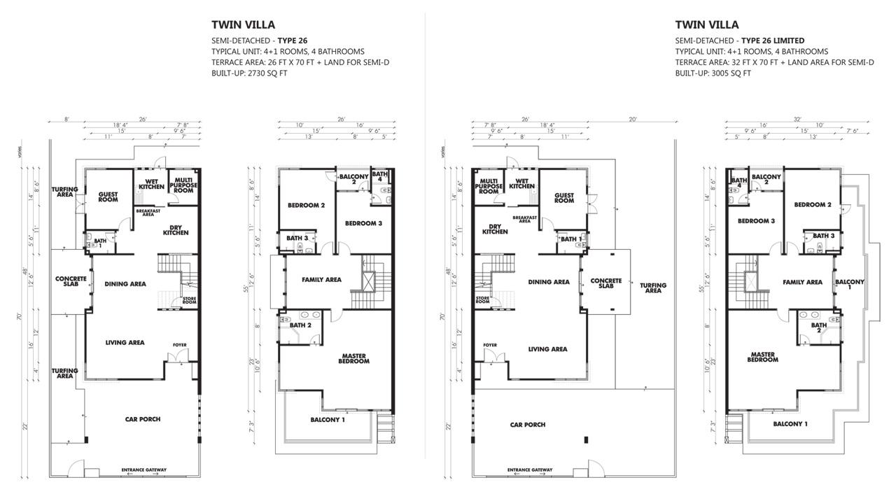 1 Desa Residence Floor Plan