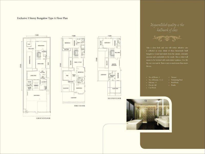 3 Storey Bungalow Type A Floorplan Penang Property Talk