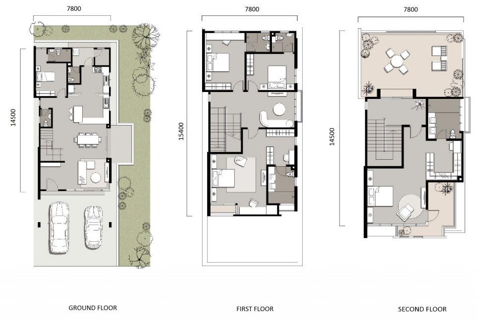 3 Storey Zero Lot Bungalow Floorplan Penang Property Talk