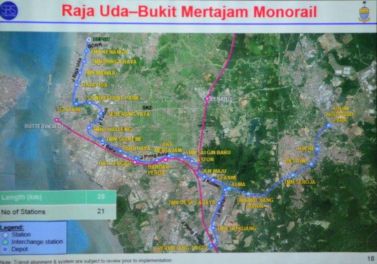 Proposed Penang Lrt Routes And Stations Penang Property Talk
