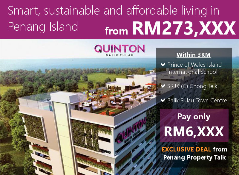 Quinton affordable housing at Balik Pulau