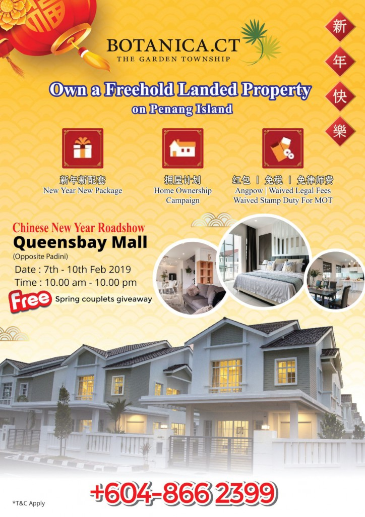 Own a Freehold Landed Property in Penang Island