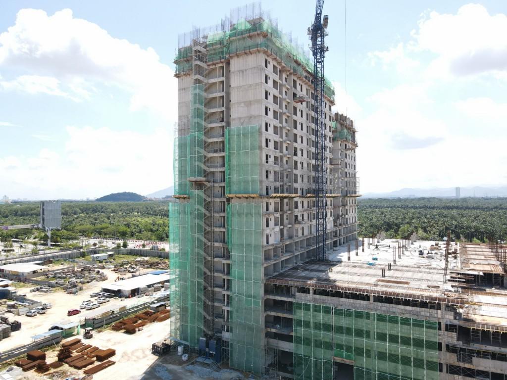 Sinaran Residence site progress